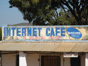 malawi internet cafe